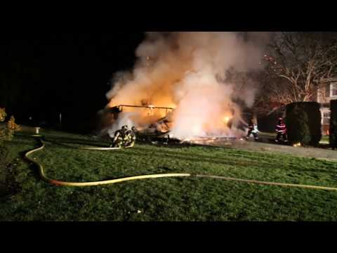 PALMER TOWNSHIP, PA FULLY INVOLVED GARAGE FIRE