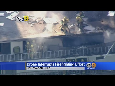 Firefighters Distracted By Drone At Hollywood Hills House Fire
