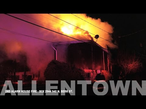 2nd Alarm house fire Allentown, PA