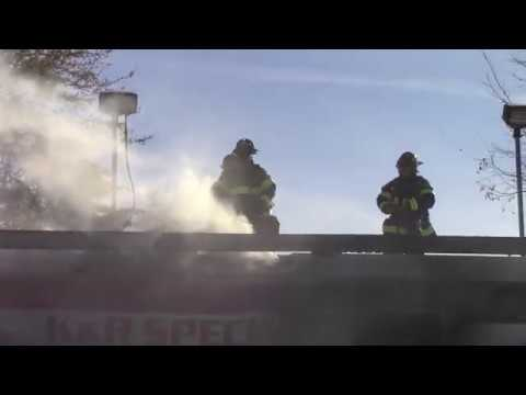 Harrison, NJ Van Fire inside Gas Station Garage (701 Harrison Avenue)