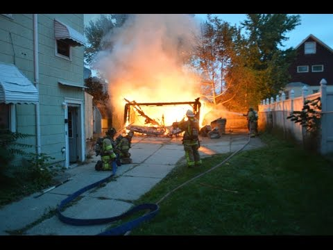 Rescue FD Garage Fire - 137 Pine Ridge
