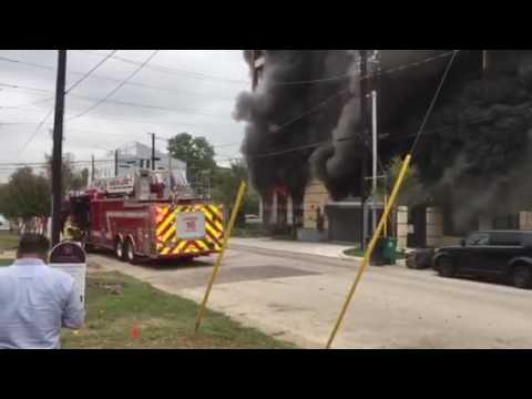 Houston Hampstead Apartments Fire, Early Video