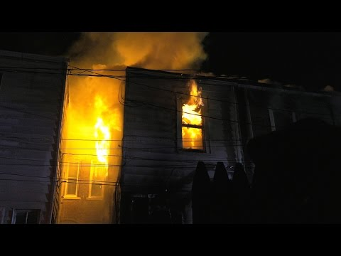 4 alarm fire destroys row of homes in Allentown, PA