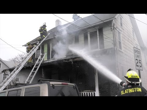 Firefighters battle 3-alarm house fire in Lehigh County 04/07/17