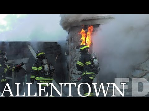 3 alarm row home fire Allentown, PA