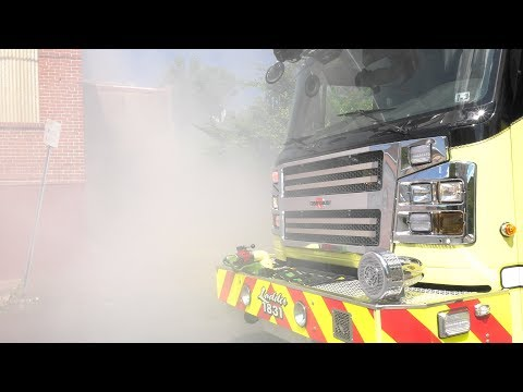 PRE-ARRIVAL VIDEO:  Firefighters stretch into old factory, North Catasauqua, PA 06/01/17