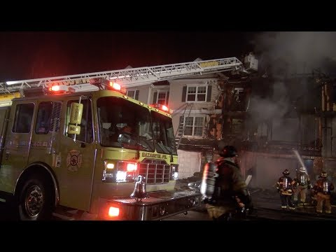 2nd alarm: Townhouse destroyed by fast moving fire  02/15/18