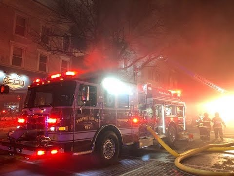 Building Fire in downtown Stroudsburg, PA