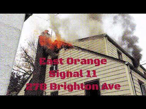 East Orange, NJ Working Fire First Due