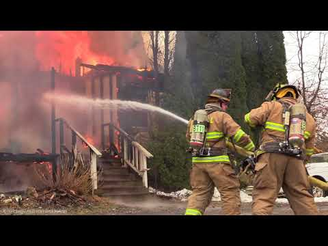 Firefighting: Bushkill Twp., PA House Fire