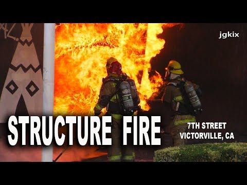 Victorville, CA Commercial Structure Fire