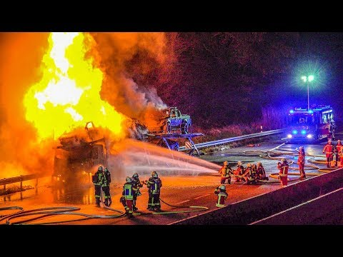 Car Carrier Fire in Germany