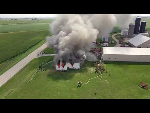 Drone Over Live Burn