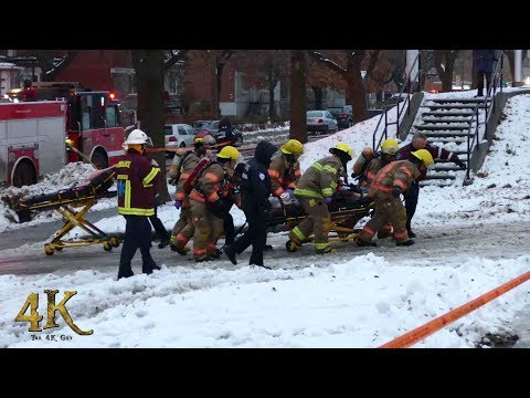 Montreal: CPR at Fatal Apartment Fire 11-25-2018