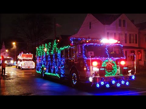 Wallington, NJ Fire Truck Christmas Parade 2018