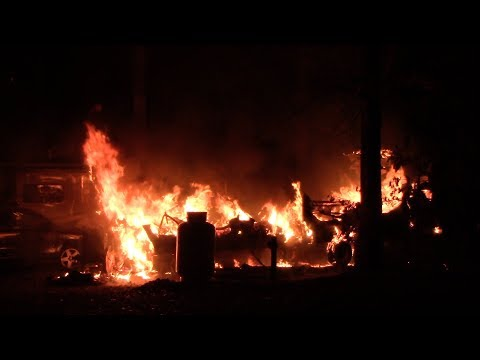 Allentown, PA Fully Involved RV Fire