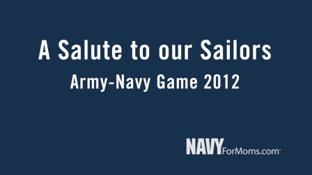 Part 1: A Salute To Our Sailors: Army-Navy Game 2012