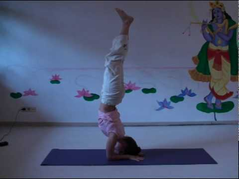 Headstand and Scorpion - Advanced Hatha Yoga Asana