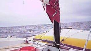 "Tiki 26 ""Zest"" sailing herself to windward"