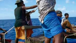 wakataitea on lamotrek island sailing a lokal canoe