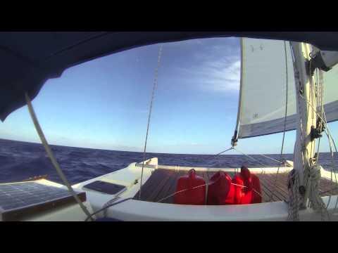 Tiki 8m Sailing from Islamorada to West Palm Beach