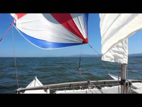 Spinnaker down the South Bay