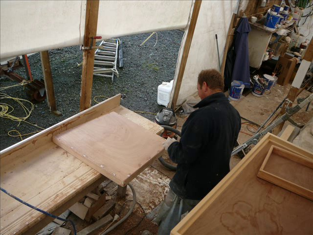 building the hatches for a tiki 46
