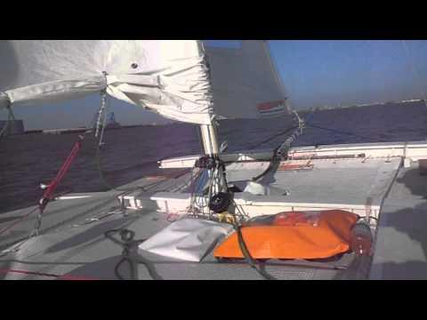 tiki 21 sailing to Bremerhaven