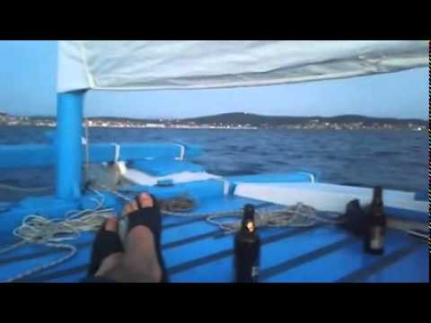 Hine Moana, a tiki 21, (james wharram) sailing Ayvalık, Turkey..