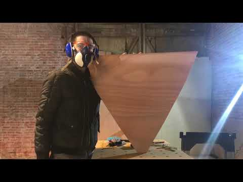 2018-01-22 Making the lower bulkheads out of 10mm plywood - Wharram Tiki 38
