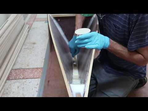 Making fillets better & apply epoxy coat on the inside hull panels & bulkheads - Wharram Hitia 14