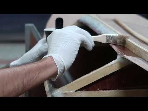 Making the fillet for the flat hatch deck panel - Wharram Hitia 14