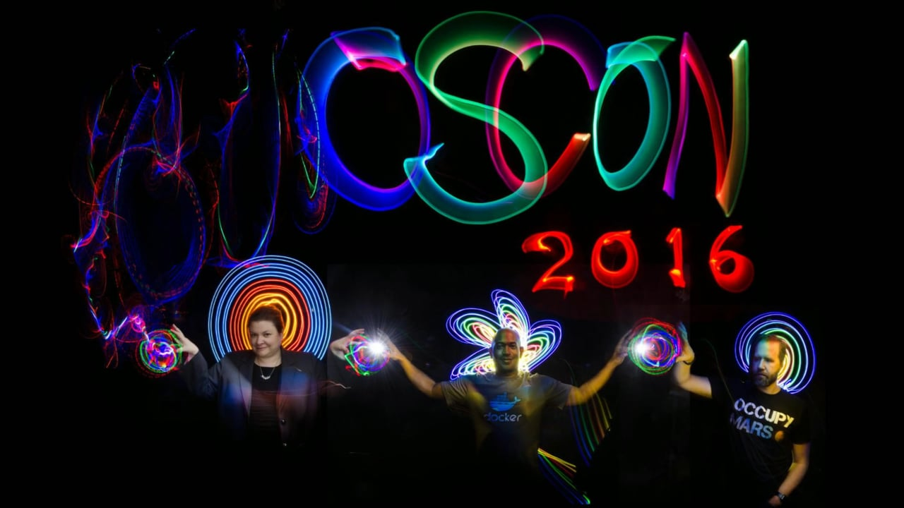 OSCON 2016 Light Painting Portraits thanks to Microsoft