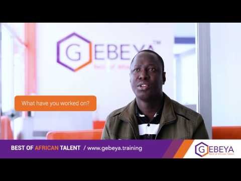 Gebeya Senior Front Engineer and Trainer: Ousmane Samba