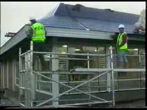 McDonalds restaurant in 24 uur gebouwd.