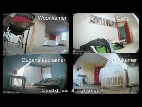 Rookontwikkeling woningbrand bij dichte en bij open binnendeuren.