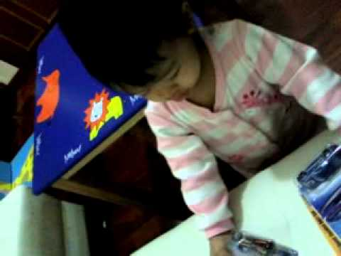 Sofwana starts to read Eng @1.07 years old