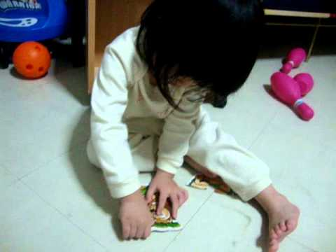 Aiko was playing Lion Puzzles.