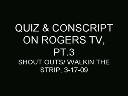 Rogers T.V Interview / Performance  PT3