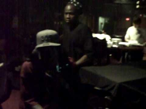 Dj Shalamar on set with Trick Daddy...