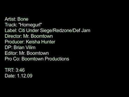 """BONE """"Homegurl"""" (OFFICIAL VIDEO)"""