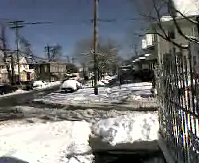 """SNOW STORM IN """"SOUTH JAMAICA QUEENS NEW YORK 2/10/2010 - PART#1"""