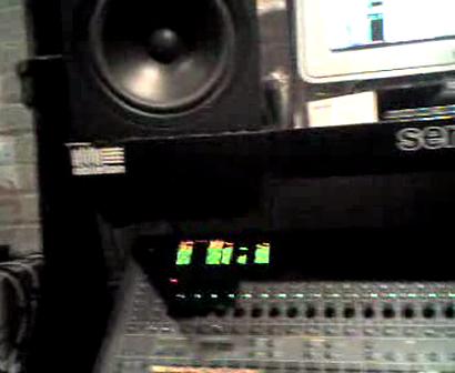 """DJ JAZZY JAY"", ""M.C. WAR FLATTOP"", ""DIGIT AL"" IN THE RECORDING STUDIO WORKING ON FLATTOP TRACK - PART # 15"
