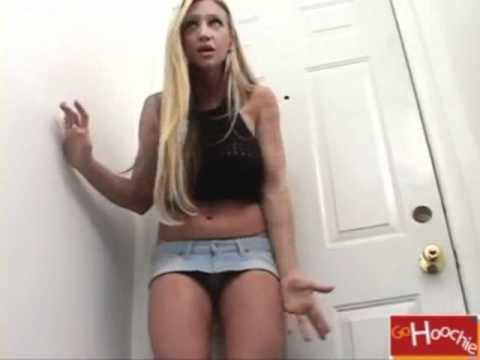 Super Sexy Hot Blonde In Micro Mini Skirt!