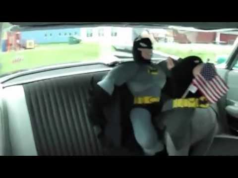 Super Hero Driving 1959 Cadillac