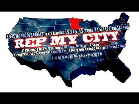 "[SpitflameUSA] ""Rep My City"" featuring Dotzilla, Fel Cognito, Afro Preachah, Electronic Weapons"