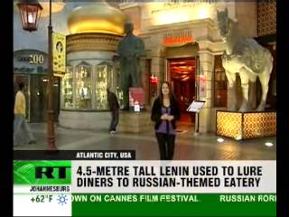 Lenin welcomes guests to utopia