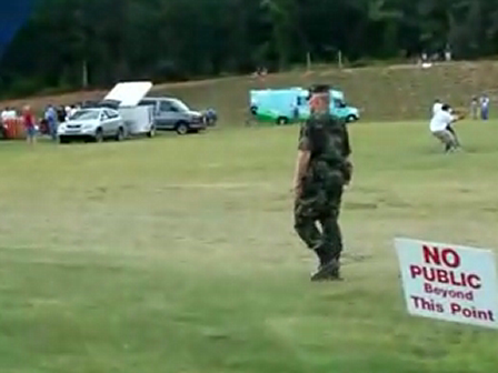 Military National Guard Troops providing Security at balloon festival in Greenville South Carolina