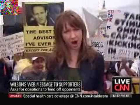 Tea Partyers Drown Out CNN Reporter During Live Report