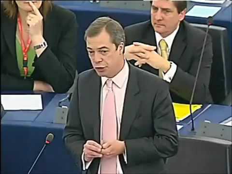 Nigel Farage EU MP Questions EU Parliment.mp4